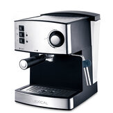 Lexical LEM-0602 Automatic Small Multi-Function Coffee Machine 850W 5 Cups Steam Double Cup Milk Frothed Espresso