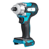 Brushless Cordless Electric Impact Wrench 1/2'' Socket Wrench Power Tool for Makita 18V Battery