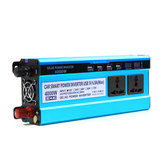 4000W LCD Solor Power Inverter DC 12V/24V/48V To AC 220V Converter 3 Sockets 4 USB Ports