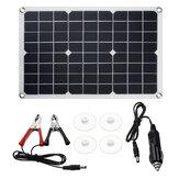 20W 18V Solar Panel Waterproof High Efficiency USB Monocrystalline Solar Power Kit Portable Solar Charger For Home Outdoor Car Solar Power Kit