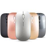 HXSJ M90 Wireless Dual Mode 2.4G Bluetooth-Maus Wiederaufladbare 1600DPI Still USB Optische Ergonomische Maus Für Laptop-Computer PC