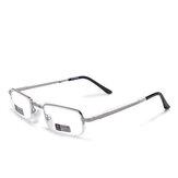 Estrutura unissex total de metal dobrável fácil de transportar conveniente HD Leitura Óculos Presbiópica Óculos