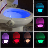 Motion Activated Toilet Night Light Bowl Badkamer LED 8 Color Lamp Sensor Lights