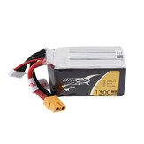 FPV RCレーシングドローン用TATTU 22.2V 1300mAh 75C 6S XT 60プラグリポバッテリー