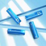 4pcs XIAOMI Mijia FR6AA 2900mAh 1,5V AA Bateria Li / FeS Baterias para ferramentas domésticas de lanterna