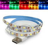 50CM Non-Waterproof USB SMD3528 TV Background Computer LED Strip Tape Flexible Light DC5V