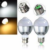 E27 b22 7W auto sensor de movimento PIR LED poupança de Luz 85-265V energia infravermelha