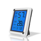 New Large-screen LCD Touch Digital Thermometer And Hygrometer Backlight Comfort Temperature And Humidity Monitor