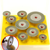 10 stks 16-40mm Diamantdoorslijpschijf Set Mini Boren Cut Off Wiel Zaagblad Voor Rotary Tool