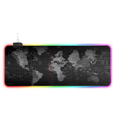 RGB Magic USB Wired Mouse Pad LED Map Luminous Mouse Mat Rubber Luminous Single Side Anti-slip Mat
