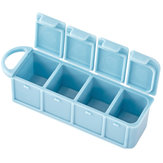 IPRee® PP Travel Portable Pill Case 4-Slots Pill Box Tablet Storage Organizer Container Case