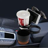 Multifunctional 360 Degree Rotation 3 Rings Rack Car Water Cup Sunglasses Phone Holder Key Storage Box