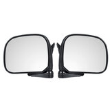 Car Manual Door Rearview Mirror with Glass Left/Right for Toyota Hiace H100 1989-2004 Right-hand Driving