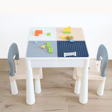 Puzzle Building Table Children Puzzles  Develop Large and Small Particles Building Blocks Assembled Toys Desk Entertainment Studying