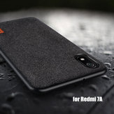 Bakeey Luxury Fabric Splice Soft Silicone Edge Shockproof Protective Case For Xiaomi Redmi 7A 5.45 inch