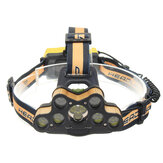 ELFELAND 6-Modos T6 7 * LED Ultra Brilhante USB Rechargebale Headlamp Outdoor Camping Head Torch Hunting Search Light