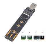 Liangteng USB3.1 à M.2 adaptateur de disque dur NVME / SATA NVME NGFF SATA convertisseur SSD lecteur carte SDD 2230 2242 2260 2280