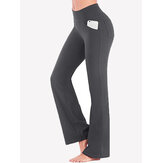 Solid Color High Wasit Women Casual Sport Yoga Pants