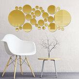 3D espelho para casa adesivos de parede autoadesivos removíveis para quarto escritório arte decalque materiais de ornamento de parede doméstico