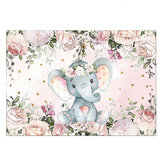 220x150cm 150x100C Girl Elephant Baby Shower Backdrop Vinyl Elephant Photography Background Photo Props