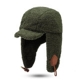 Unisex Winter Fashion Trapper Hat Lamb Velvet Earmuffs Hat