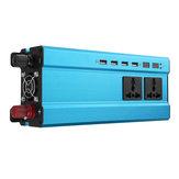 5000 Вт 12 В / 24 В постоянного тока в 220 В переменного тока Солнечная Инвертор LED Модифицированный синусоидальный преобразователь Синий