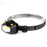 XANES A02 550LM 12 COB LED HeadLamp Ultralight 42g Waterproof Outdoor Camping Hiking Cycling Fishing Light AAA Battery