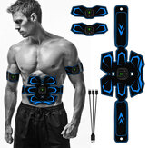 FOUAVRTEL Q88Q 3 Pcs/Set EMS Electric Abdominal Trainer 6 Mode 9 Intensity High Vibration Smart Arm Muscle Training Belt Body Shape Sports Fitness