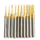 Drillpro DB-M13 10шт 0,8 мм-3 мм твердосплавные торцевые фрезы для фрезерных станков с ЧПУ