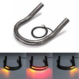 7/8 inch Tube Black Cafe Racer Sitzrahmen Hoop Brat Loop LED Brake Turn Singal Lights