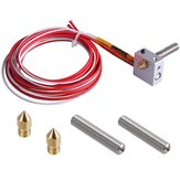 12V 1.75mm Filament Direct Feed Hot End Assembled Extruder Kit with 2Pcs Extruder & 0.4mm Brass Nozzle