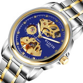 WLISTH 1001 Fashion Hollow Dial Luminous Pointer Business Style Men Watch Automatic Mechanical Watch