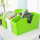 Caja de almacenamiento de la cocina exclusiva de plástico multifuncional con ruedas de terminar los platos macetas de rejilla