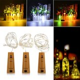 Battery Powered 1M 20LEDs Cork Shaped Silver LED Starry Light Bottle Lamp For Party
