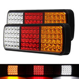 2pcs 75 LED Fanale posteriore per camion Freno per rimorchio Segnale di svolta Indicatore di retromarcia per camion Caravan lampada