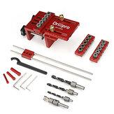 Drillpro 3 em 1 Kit de gabarito de cavilha ajustável para marcenaria com orifício de bolso Localizador de guia de perfuração para móveis Ferramentas perfuradoras de orifício de conexão