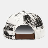 Banggood تصميم الرجال الكتابة على الجدران نمط عارضة أزياء بدون حواف قبعة المالك قبعة الجمجمة كاب