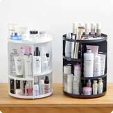 Plastic 360 Rotating Makeup Organizers Comestic Storage Box Organizer Women Desk Make Up Organizer Bathroom Makeup Holder