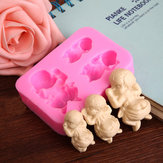 3 Slapende Baby Silicone Mould Fondant Zeep Mould Cake Decorating