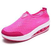 Ayakkabı Kadın Mesh Nefes Almak için Rahat Sarsılmış Ayakkabı Outdoor Basit Spor Ayakkabıları