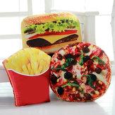 Criativo Squishy 3D Pizza Cola Batata Hambúrguer Chips Travesseiros Almofada Do Alimento Presente de Aniversário Brinquedos Do Truque