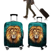18-32inch Polyester Luggage Bag Cover Lion Travel Elastic Suitcase Cover Dust Proof Protective
