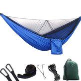 1-2персоныНаоткрытомвоздухеКемпинг Гамак с москитной сеткой Высокопрочная парашютная ткань Подвесная кровать Охота Спящ