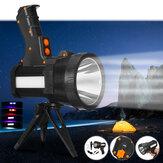 L2 6000LM 500 m + Sterke LED Spotlight met Statief 9600 mAh USB Oplaadbaar Krachtig Zoeklicht Draagbaar Handvat Zaklamp Voor Camping Jagen Vissen
