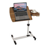Mobile Rolling Laptop Desk Computer Table Stand Adjustable Bed Bedside Portable