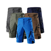 OUTTO 1202 Men's Stretch Zipper Cargo Shorts Summer Fit Quick dry Multi-pocket Cycling Fishing