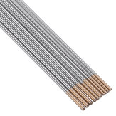 10 Stks WL15 150mm Lengte TIG Lassen Tungsten Elektroden 1.0 / 1.6mm Golden Tip Staven Set