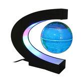 LED Flutuante C Forma Levitação Magnética Globo Flutuante Mapa Mundial