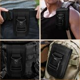 Bakeey Multifunctional Outdoor Sport Hiking Tactical Two-Layer with Multi Card Slot Mobile Phone Money Coin Men Phone Waist Bags Sidebag Pack