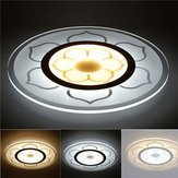 15W moderne ronde bloem acryl LED plafondverlichting warm wit / wit Lamp voor woonkamer AC220V